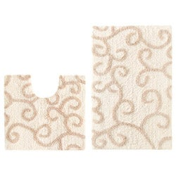 Celebration 'New Scroll' 2-piece Contour and Bath Rug Set
