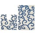 Celebration 'New Scroll' Bath and Contour Rug 2-piece Set