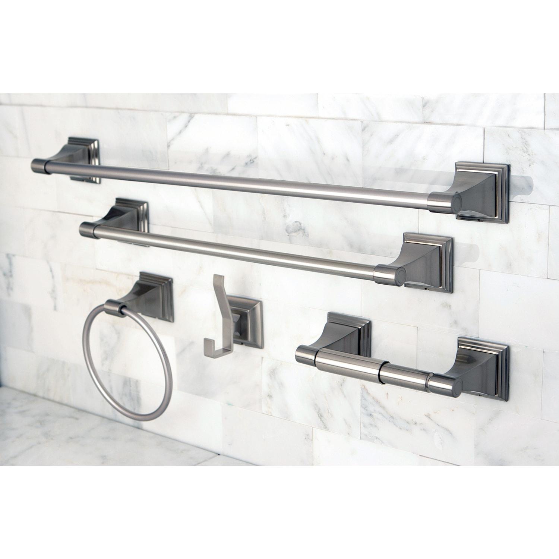 Satin Nickel 5-piece Bathroom Accessory Set