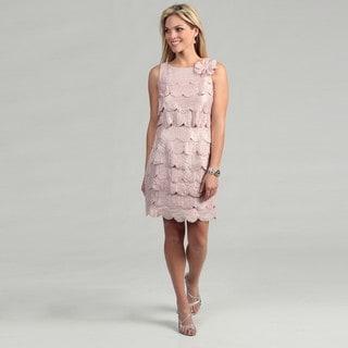 Sandra Darren Women's Blush Petal Tiered Dress