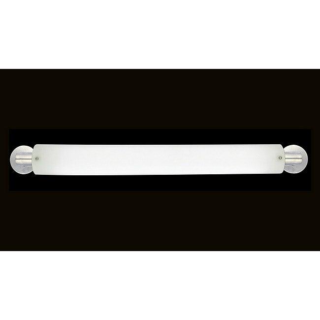 Marriott Series 2-light Brushed Nickel Opal Acrylic Bath Strip