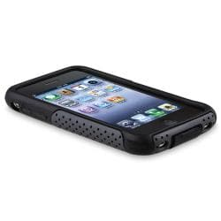 Black Skin/ Grey Mesh Hybrid Case for Apple iPhone 3G/ 3GS