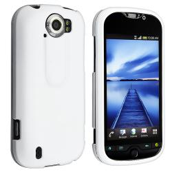 White Snap-on Rubber Coated Case for HTC T-Mobile MyTouch 4G Slide