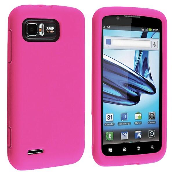 Hot Pink Silicone Skin Case for Motorola Atrix 2 MB865