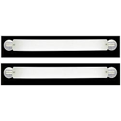 Marriott Series 2 light Brushed Nickel Opal Acrylic Bath Strip (2 Pack)