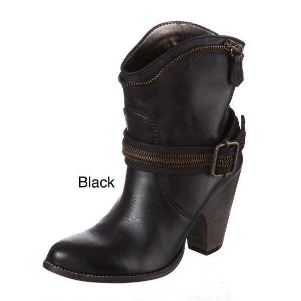 Bronx Women's Buckle/ Zipper Ankle Boots