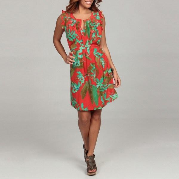 Jessica Simpson Junior's Ruffle-trim Self-belted Dress