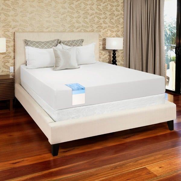 select luxury gel memory foam 8 inch full size medium firm mattress 14054659. Black Bedroom Furniture Sets. Home Design Ideas