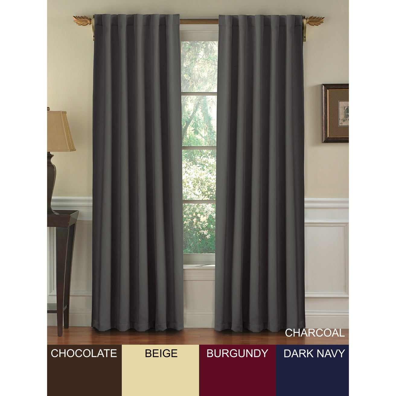 Posh Insulated Blackout 95-inch Curtain Panel Pair at Sears.com