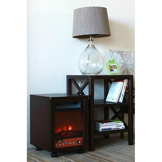 iLIVING ILG958 1500-Watt Portable Fireplace With Remote