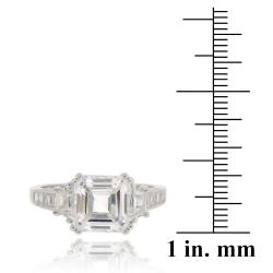 Icz Stonez Rhodium-plated Sterling Silver Cubic Zirconia Ring (5.5ct TCW)