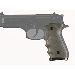 Hogue Olive Drab Beretta 92/96 with Finger Grooves Rubber Mono Grip