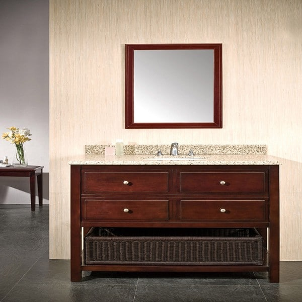 Http Overstock Com Home Garden Granite Top Dakota 2 Drawer Hardwood Vanity By Ove Decors 6457634 Product Html