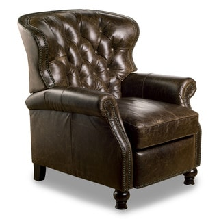 Cambridge Leather Recliner in Chaps Havana Brown