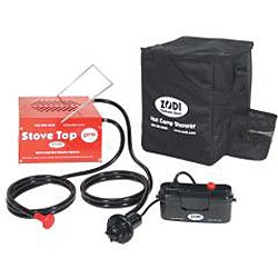 Zodi Stove Top Pro Red/Black Portable Hot Water Heater Camping Gear