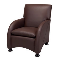 Lorenzo Coffee Brown Leather Club Chair