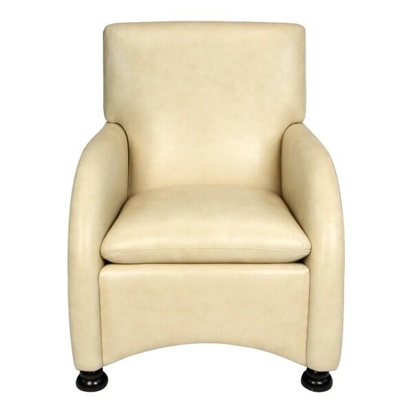 Lorenzo Softy Tan Leather Club Chair