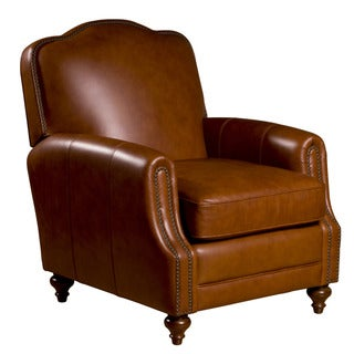 Seville Leather Press Back Chair in Vintage Oak