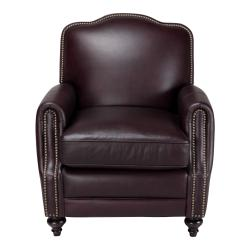 Seville Leather Press Back Chair in Vintage Burgundy