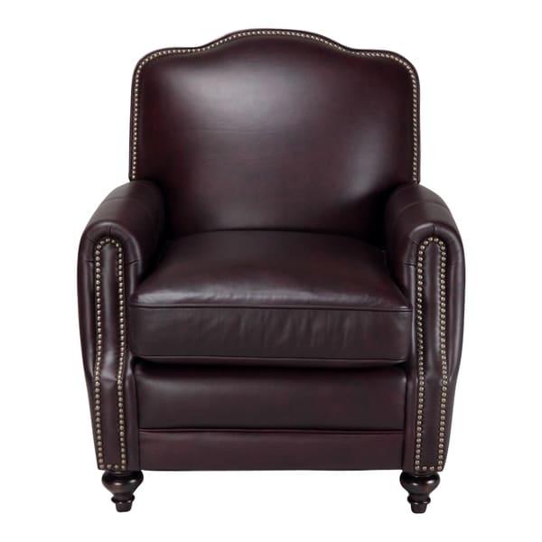Seville Leather Press Back Chair in Vintage Burgundy