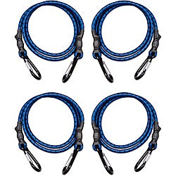 Raider Blue/ Black 4-piece Carabiner Strap Kit