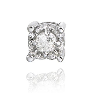 DB Designs Sterling Silver White Diamond Single Stud Earring