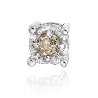 db designs sterling silver single champagne diamond stud. Black Bedroom Furniture Sets. Home Design Ideas