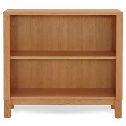 J & K Cherry 2-Shelf Wood Bookcase