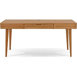 Jesper Office Highland Natural Cherry Solid Wood Desk