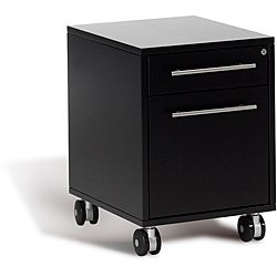 J & K Espresso Mobile File Pedestal with Lock and Key