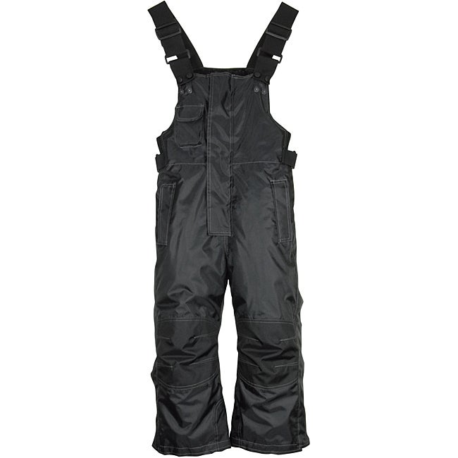 Mossi Boy's Youth Competition Series Black Snow Bib