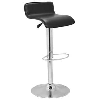 Safavieh Soho Adjustable-Height Gas Lift Black Swivel Bar Stool