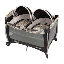 Graco Pack 'n Play Portable Playard with Twins Bassinet in Vance