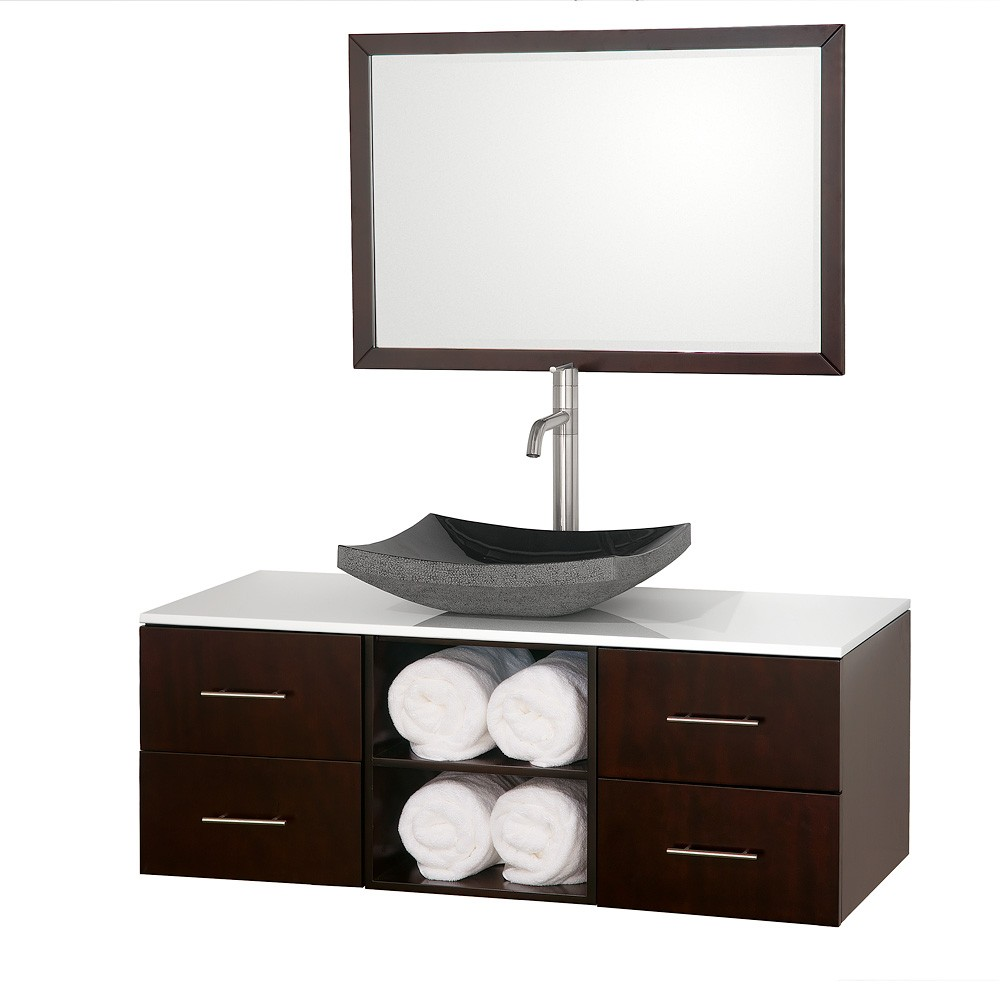wyndham collection abba espresso single 48 inch bathroom vanity set