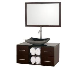Wyndham Collection Abba Espresso 36-inch Single Bathroom Vanity Set