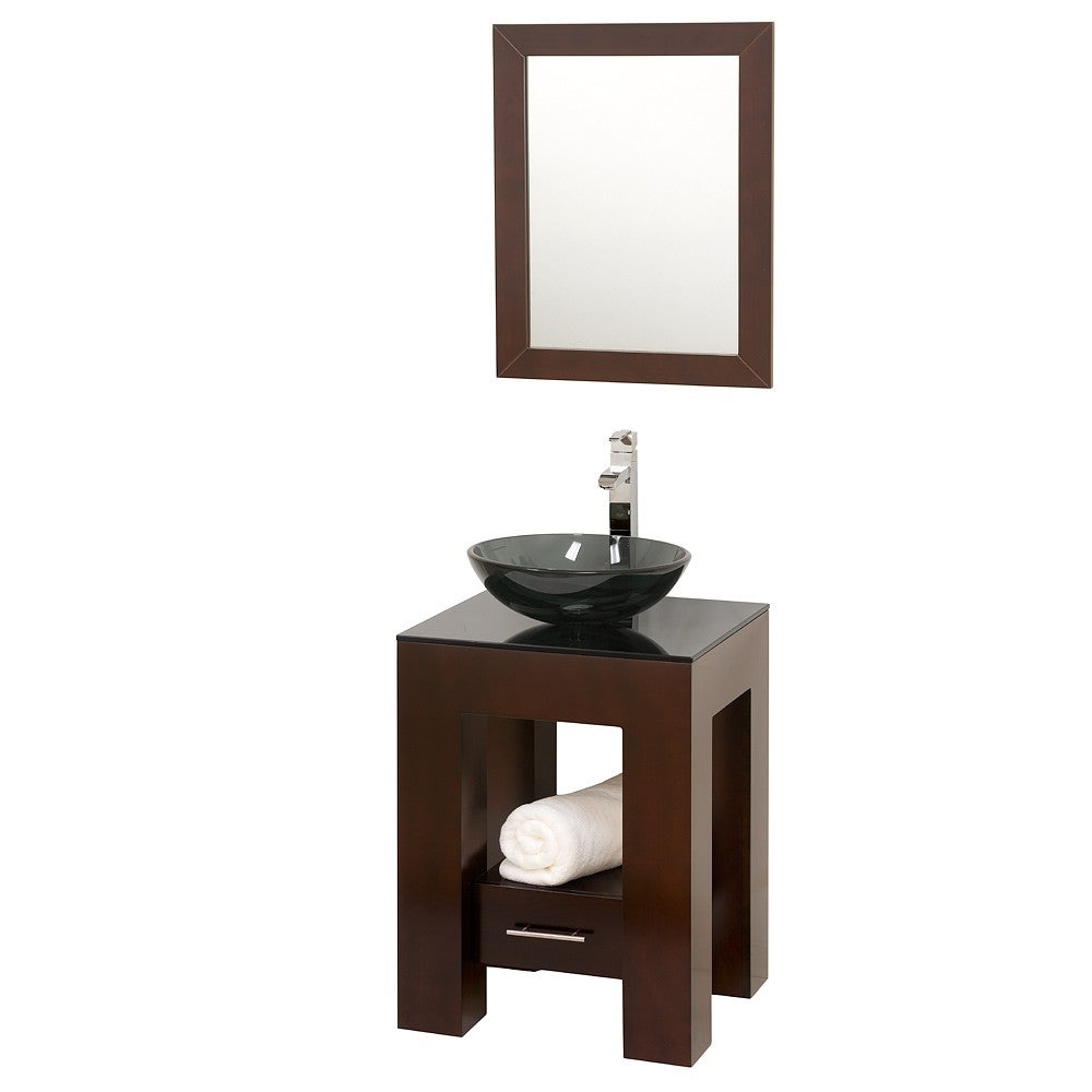 Wyndham Collection Amanda Espresso 22inch Single Bathroom Vanity Set