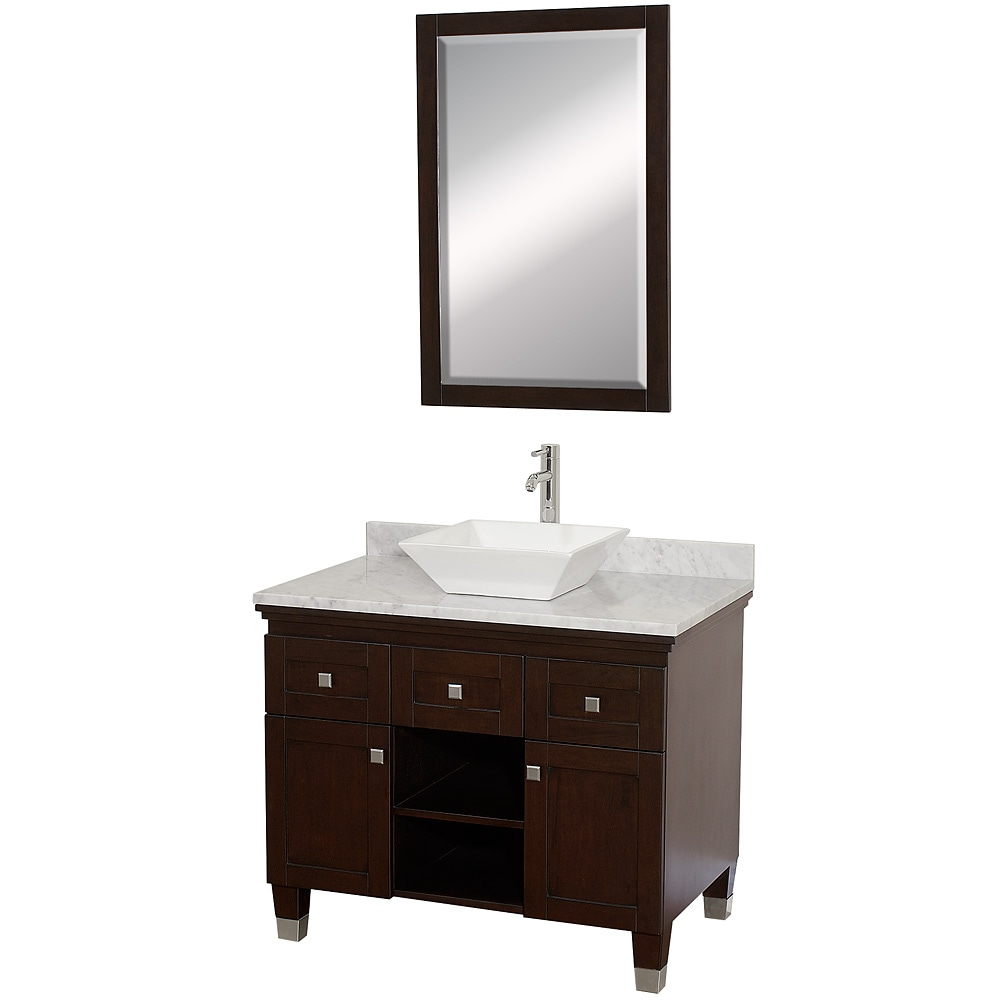 collection premiere 39 espresso 36 inch solid oak single bathroom vanity