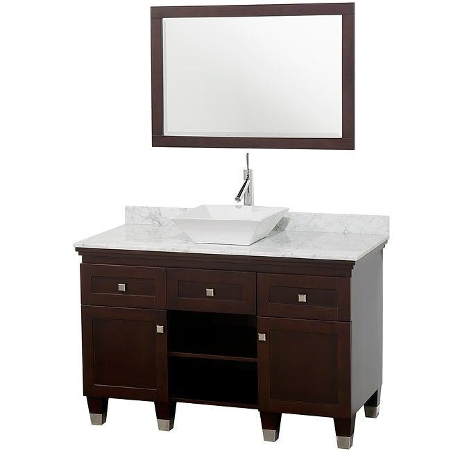 collection premiere 39 espresso 48 inch solid oak single bathroom vanity