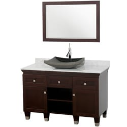 Wyndham Collection Premiere' Espresso 48-inch Solid Oak Single Bathroom Vanity