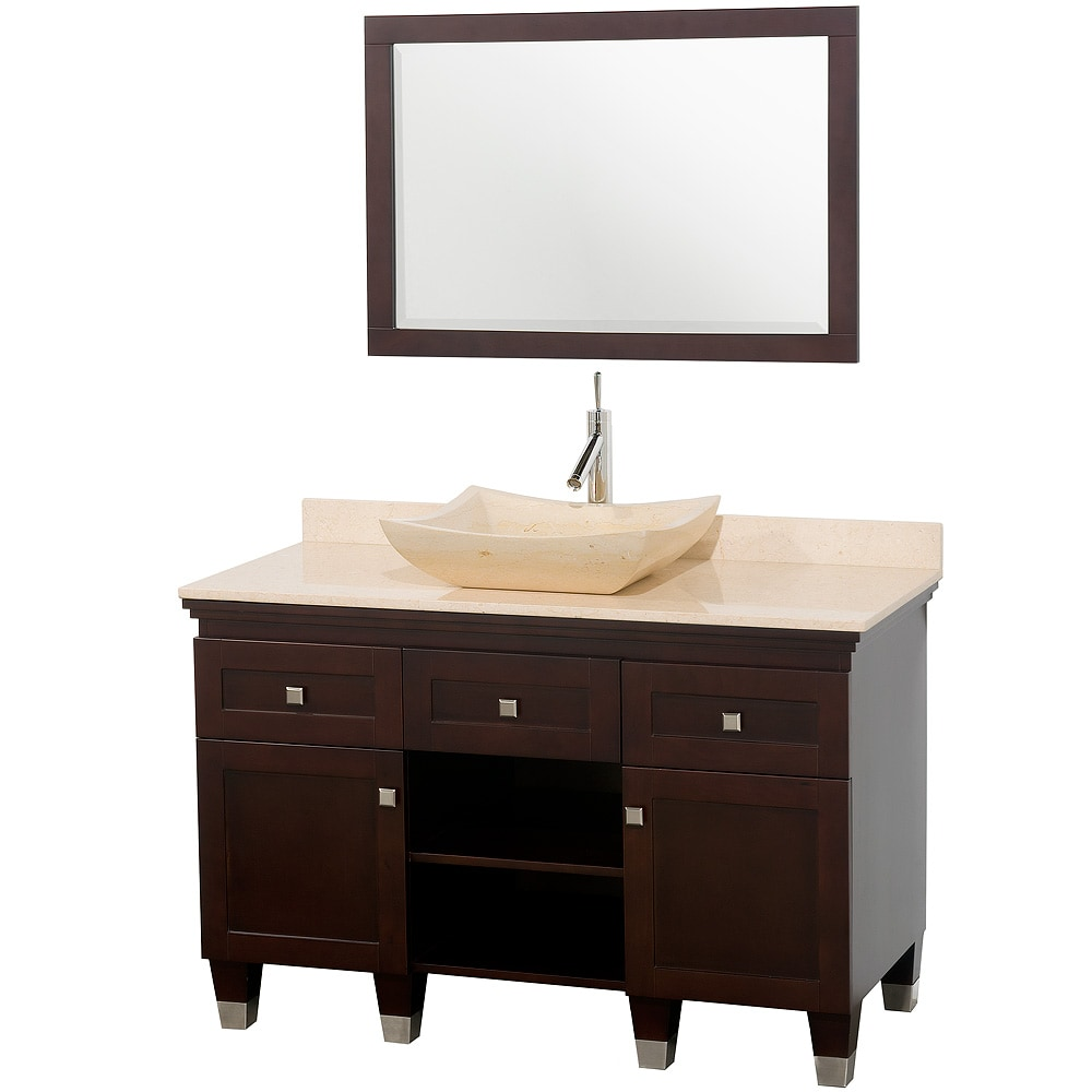 Collection Premiere39; Espresso 48inch Solid Oak Single Bathroom Vanity