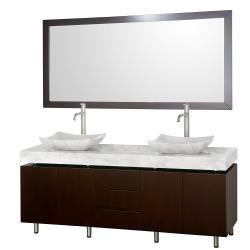Wyndham Collection Malibu Espresso Double Bathroom Vanity Set