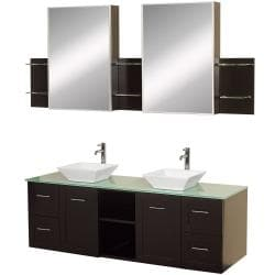 Wyndham Collection Avara Espresso Double Bathroom Vanity Set