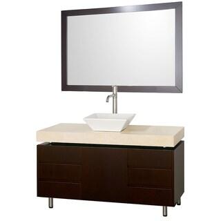 Wyndham Collection Malibu Espresso  48-inch Single Bathroom Vanity Set