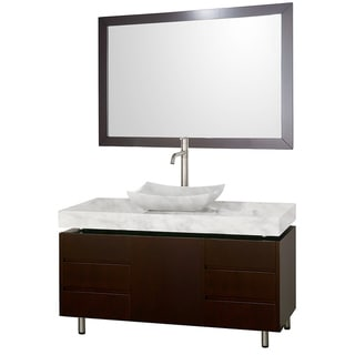 Wyndham Collection Malibu Espresso 48-inch Single Bathroom Vanity Set