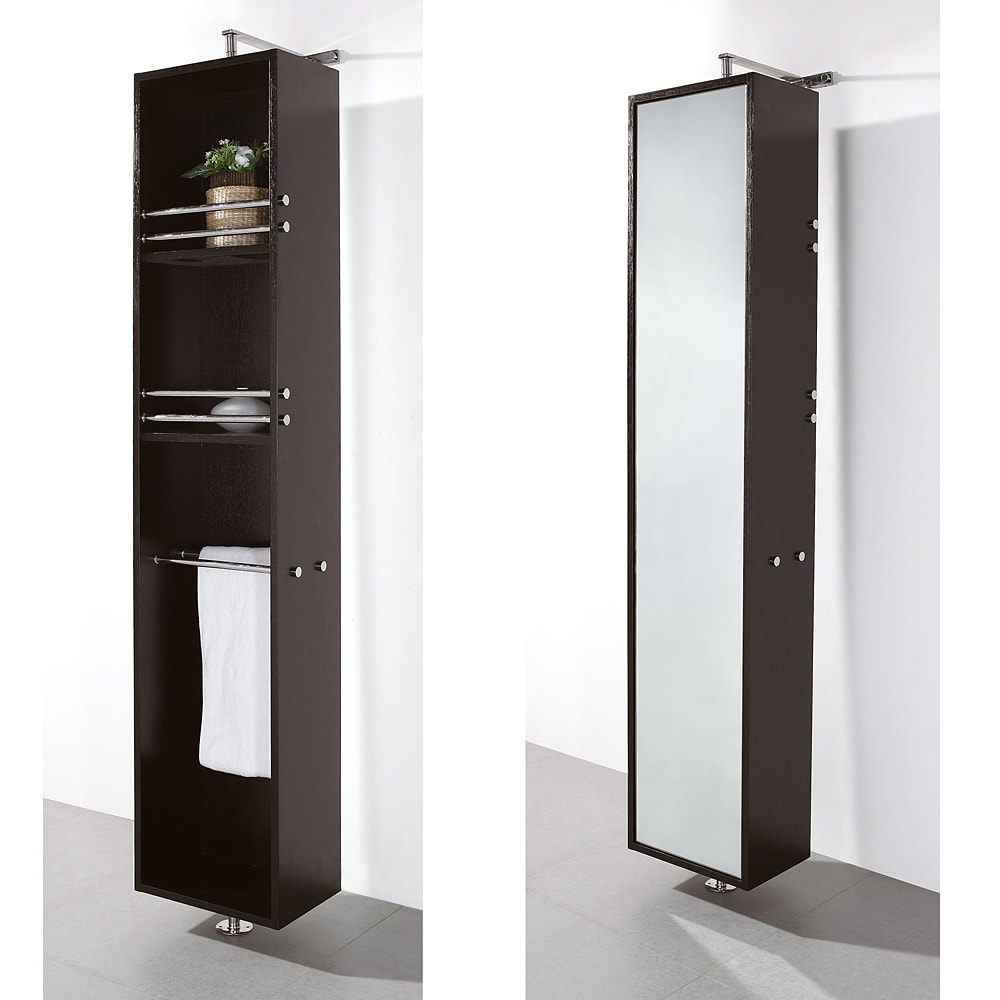 Wyndham Collection Claire Espresso Bathroom Linen Tower