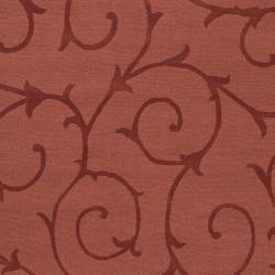 Hand-crafted Burgundy Solid Swirl Bristol Wool Rug (9' x 12')