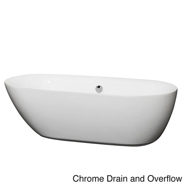 Wyndham Collection Melissa Free Standing Soaking Bathtub