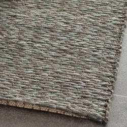 Handwoven Doubleweave Sea Grass Teal Rug (8' x 10')