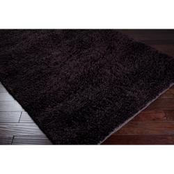 Hand-woven MetropoliBrown New Zealand Wool Plush Shag Rug (9' x13')