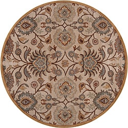 Hand-tufted Amanda Ivory Floral Wool Rug (8' x 8')